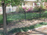4' Post and Rail Cross Style Fence.